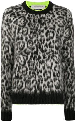 Golden Goose Leopard Mohair Knit Jumper