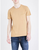 Nudie Jeans Anders Tilted-pocket Cotton-jersey T-shirt
