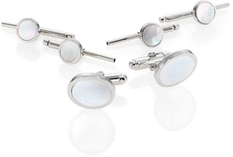 David Donahue Sterling Silver & Mother Of Pearl Stud Set