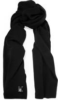 Karl Lagerfeld Appliquéd knitted scarf