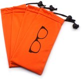 Global Glasses (4 PCS) Drawstring Microfiber Soft Eyeglasses Pouch With Bead Lock
