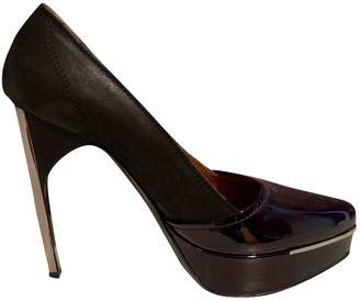 Lanvin Burgundy Leather Heels