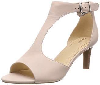 Clarks Women's Laureti Star Ankle Strap Heels, Pink (Blush Leather