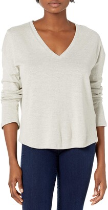Majestic Filatures Women's Long Sleeve Relaxed V-Neck