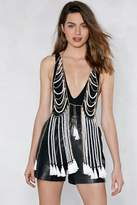 Nasty Gal You Rock My Pearl Vest Body Chain