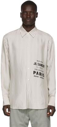Jil Sander Off-White Printed Flyer Shirt
