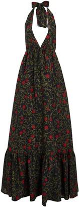 Agua Bendita Olivia Floral Halter Maxi Dress