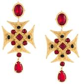 Dolce & Gabbana Maltese cross clip-on earrings