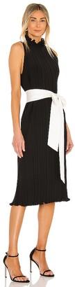 Alice + Olivia Shayna Pleated Dress With Tie Belt