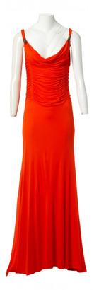 Roberto Cavalli Orange Viscose Dresses