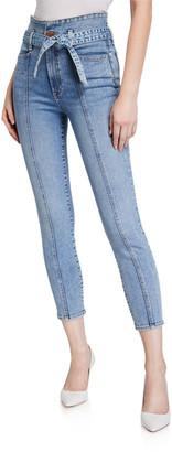 Alice + Olivia Jeans Good High-Rise Skinny Jeans w/ Waistband
