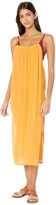 O'Neill Layna Midi Cover-Up Dress (Brown) Women's Swimwear