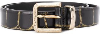 Just Cavalli Cracked Snake Pattern Belt