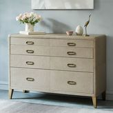 west elm Atelier Leather-Wrapped 4-Drawer Dresser – Gray