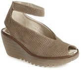 Fly London Women's 'Yala' Perforated Leather Sandal