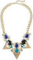 Jules Smith Designs Triangle Crystal Statement Necklace, Blue