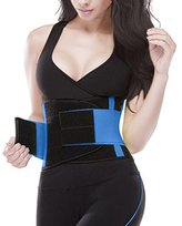 YIANNA Waist Trimmer Belt Fat Burner Low Waist Back support Adjustable Abdominal Trainer Body Hourglass Shaper Weight loss, CA-YA8002-L
