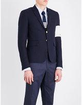 Thom Browne Contrast-ski patch slim-fit wool jacket