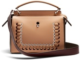 Fendi Dotcom bi-colour whipstitch leather bag