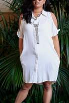 Very J Button-Down Country Dress