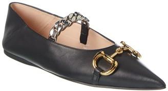 Gucci Horsebit Leather Ballet Flat