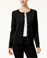 Karen Scott Studded Long-Sleeve Cardigan, Created for Macy's