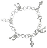 Journee Collection Sterling Silver Music Bracelet