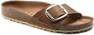 Birkenstock Madrid Big Buckle Narrow Fit Oil Leathered Sandal - leather | brown | Natural Cork | EU 37 - Brown/Brown