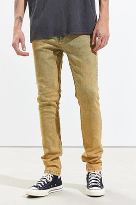 BDG Skinny Jean Yellow Stonewash