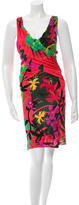 Alberta Ferretti Sleeveless Floral Print Dress