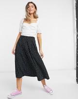 Thumbnail for your product : Monki Sigrid midi skirt in spot print
