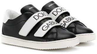 Dolce & Gabbana Kids Logo Strap Sneakers