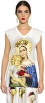 Dolce & Gabbana Madonna Cotton Jersey Sleeveless Top