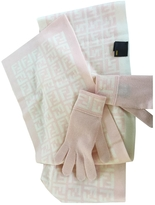 Fendi Pink Wool Scarf