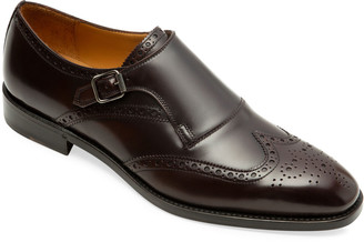 Paul Stuart Men's Harling Brogue Monk-Strap Shoes