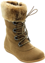 Jelly Beans Camel Faux Fur Misty Boot