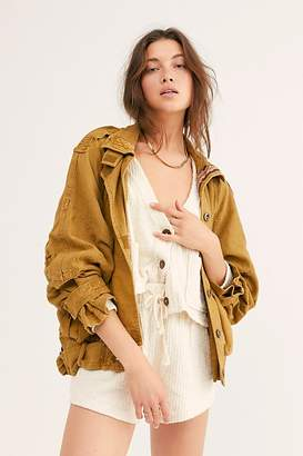 Free People Jayde Safari Bomber Jacket by Free People, Military, XS