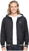 VISSLA Daymer Hooded Zipper Front Jersey Lined Jacket 600 Durable Water Coating