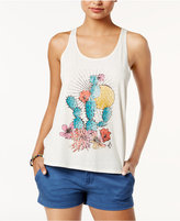 Volcom Juniors' Ship Storm Twist-Back Tank Top