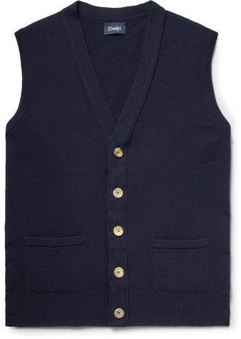 Drakes Drake's Slim-Fit Wool Sweater Vest
