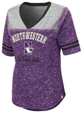 Colosseum Women's Northwestern Wildcats Mr Big V-neck T-Shirt