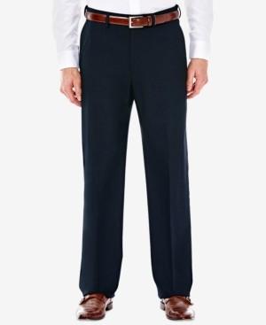 Haggar J.m. Men's Classic/ Regular Fit Stretch Sharkskin Suit Pants