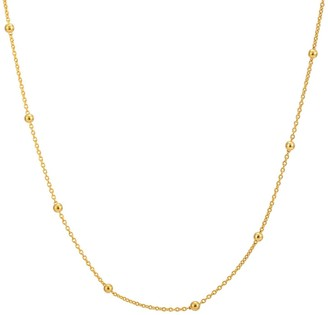 "Katie Belle 18Ct Gold Vermeil 16-18"" Beaded Chain"