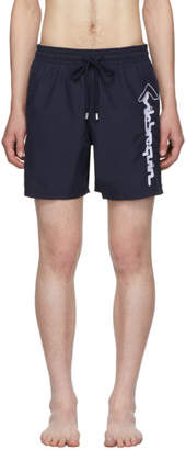Vilebrequin Navy Embroidered Logo Motu Swim Shorts