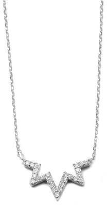 Anzie Aztec Starburst Zig Zag Necklace Silver