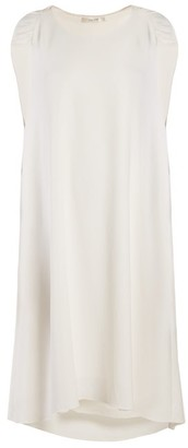 The Row Dada Ruched-shoulder Cady Dress - Womens - Ivory