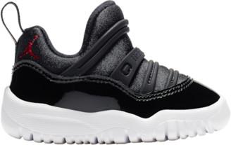 Jordan Retro 11 Little Flex Basketball Shoes - Black / Gym Red / White