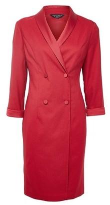 Dorothy Perkins Womens Crimson Wrap Tuxedo Style Dress