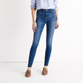 "Madewell 9"" High-Rise Skinny Jeans in Hammond Wash: Drop-Hem Edition"