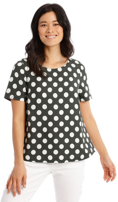 Regatta Short Sleeves A-Line Top With Button Back